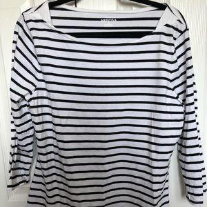 FINAL PRICE Merona 3/4 length striped t-shirt
